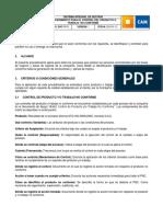Anexo A. SGC-PR-01-PROCEDIMIENTO PARA EL CONTROL DEL PRODUCTO O TRABAJO  NO CONFORME