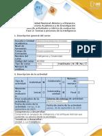 Guía de actividades y rúbrica de evaluación fase 2-Teorías y procesos de la inteligencia
