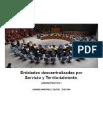 Entidades descentralizadas por Servicio y Territorialmente