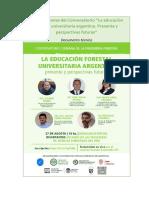 """Presentaciones del Conversatorio """"La educación forestal universitaria en la Argentina"""""""
