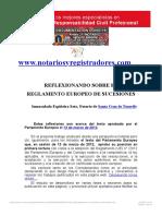 REFLEXIONANDO SOBRE EL FUTURO REGLAMENTO EUROPEO DE SUCESIONES