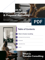 Introduction to Presales Consulting and Proposal Authoring