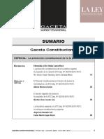 SUMARIO Gaceta Constitucional TOMO 152