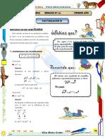 13  - Factorización III