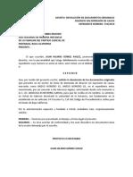 SOLICITUD DE DEVOLUCION DE DOCUMENTOS JUZGADO