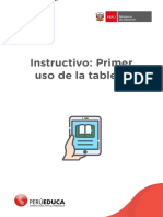 Instructivo Sesión 8  Primer uso de la tableta