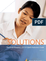 Dynamics Ax 4.0 Refrence guide