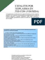 ENCEFALITIS POR TOXOPLASMA EN PACIENTES CON (VIH