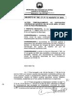Decreto autoriza acesso a parques, praças e cinema, serviços de mototáxis e realização de eventos em Tangará da Serra