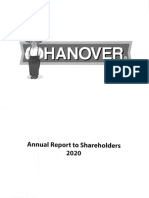 Hanover Annual Report FY 2020