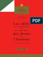 F. Ouguergouz in Les Defis de l'interpretation, Editions Pedone, 2017-6