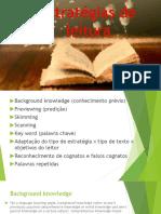 Estratégias de Leitura - English class