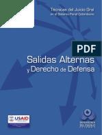 09 Técnicas del Juicio Oral en el Sistema Penal Colombiano - Salidas Alternas y Derecho a la Defe