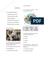EXAMEN DE CIENCIAS NATURALES 4