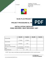 PR808-03 Waste Heater Instal