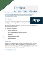 Hybrid project management manifesto