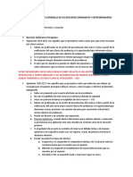 CLASIFICACION Y ASPECTOS GENERALES DE LOS RECURSOS ORDINARIOS Y EXTRAORDINARIOS