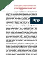 Discurso y orientaciones políticas del Comandante Chávez en la presentación de las Líneas Estratégicas de Acción Políticas en el  encuentro con el Partido Socialista Unido de Venezuela. Estado Vargas.