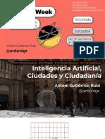 Inteligencia artificial, ciudades y ciudadanía