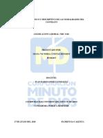 ENSAYO ANALÍTICO Y DESCRIPTIVO DE LAS MODALIDADES DEL CONTRATO