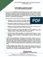 COMUNICADO FMLN
