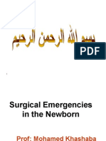 Surgical Emergencies in the Newborn