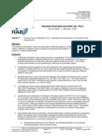 RABQSA Training Provider Advisory TCD27