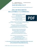 BASE METAFÍSICA 15, LÍNEA DE LA ENTREGA Y LA ESPERANZA 20 de Marzo 2020