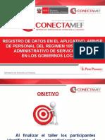 Registro de datos en el Aplicativo AIRHSP del personal del regimen 1057 Contrato administrativo de Servicios - CAS