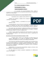 TEMA 1.1. EL ACONDICIONAMIENTO FÍSICO