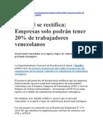 NO ES NECESARIO LEGALIZAR CONTRATO SI TRABAJADOR VENEZOLANO O EXTRANJERO TIENE PTP VIGENTE