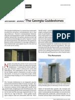 Sinister Sites- The Georgia Guidestones