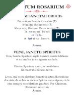 Rosario en latin Pronunciado