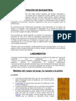DEFINICIÓN DE BASQUETBOL