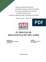 EL PROCESO DE DESCOLONIZACIÓN DEL SABER - RAFAEL QUIJADA