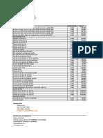 Lista de precios barriles, dispensacion y equipos de frio