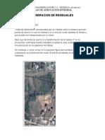 GENERACION DE RESIDUALES INDUMACA