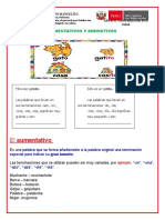 AUMENTATIVO Y DIMINUTIVO FICHAS 3ERO.docx