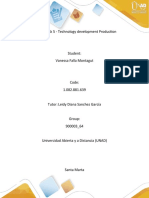 Unit 3 - Task 5 - Technology development Production