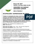 PASEPERSONALORDOÑEZALCARRAZ ANTHONY JUNIOR