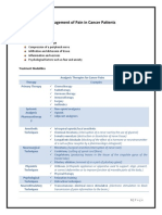 Management of Pain in Cancer Patients and Chemotherapy