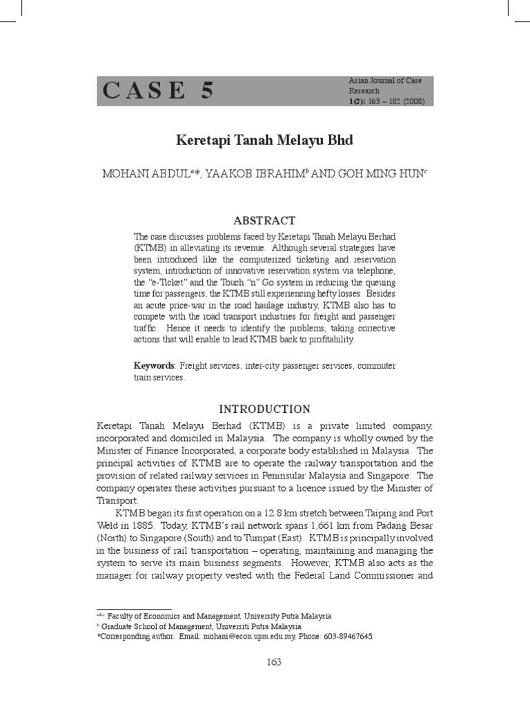 case study ktmb