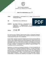 Directiva Presidencial No 07 Del 27 de Agosto de 2020