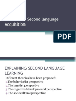 Applied Linguistics Revision of Theories
