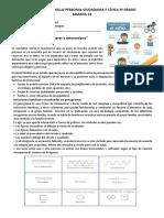 SEM-18 AREA DE DESARROLLO PERSONAL CIUDADANIA Y CÍVICA 3º GRADO