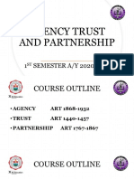 AGENCY TRUST AND PARTNERSHIP lecture 1