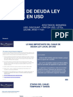 Oferta Final de Canje en USD_Ley Local