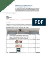 ALVARO ARIZA, cotización suminsitro de 100 m2 piso MEDISTEP CONDUCTIVE. Junio 20 de 2020