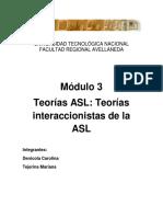 Módulo3- Teorías de ASL- Teorías Interaccionistas