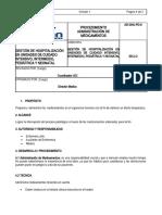 PROCEDIMIENTO ADMINISTRACIÓN DE MEDICAMENTOS